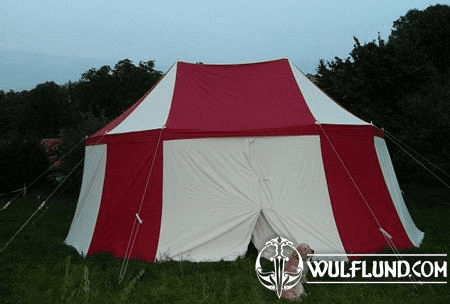 LARGE HISTORICAL TWO COLOURED TENT