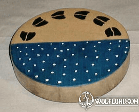 SHAMAN INDIAN DRUM, MOTHER EARTH AND THE SKY 40 CM