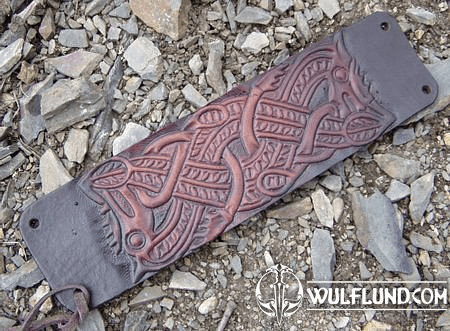 VIKING WRISTLET - LEATHER JEWELS - VIKING AND CELTIC STYLE