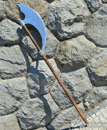 BARDICHE, TWO HANDED WAR AXE