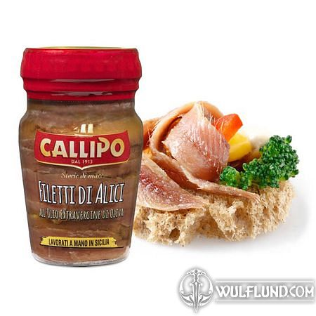 SPICY FILLETS OF ANCHOVIES IN OLIVE OIL 75 G - CALLIPO