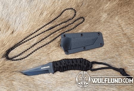 SERRATED TANTO NECK KNIFE SCHRADE