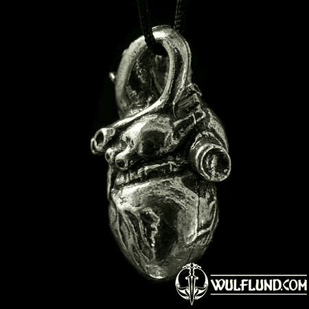 ANATOMICAL HEART, TIN PENDANT