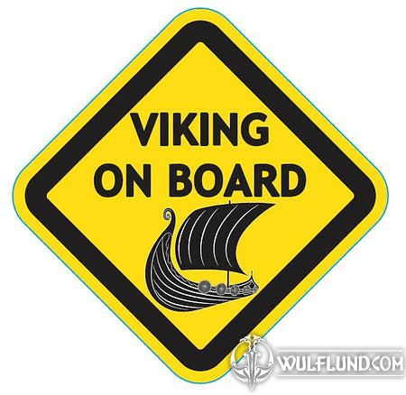 VIKING ON BOARD, CAR STICKER