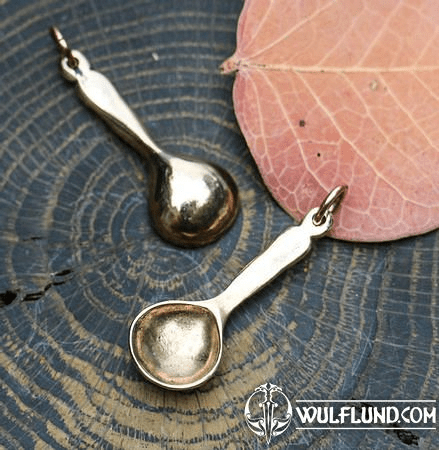 SPOON, PENDANT, BRONZE