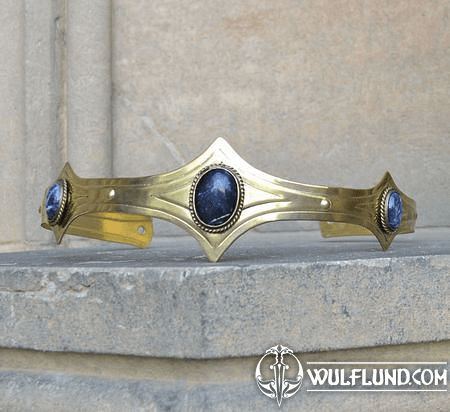 MEDIEVAL GOTHIC CROWN WITH SODALITE, 3 STONES