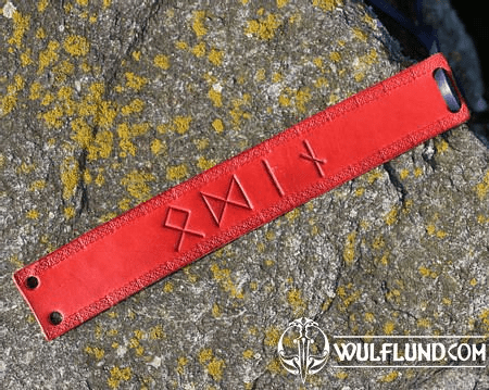 ODIN, LEATHER BRACELET, RED