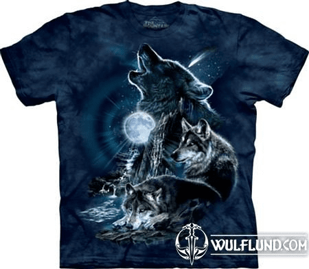 BARK AT THE MOON - WOLF, THE MOUNTAIN, T-SHIRT