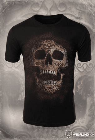 CELTIC SKULL, MEN'S T-SHIRT COLORED