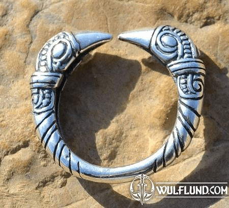 VIKING RAVEN HEAD RING, SILVER 925