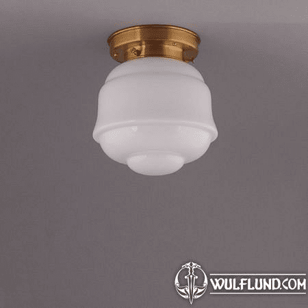 FRONTIER, CEILING LAMP, BRASS ROUND FIXTURE