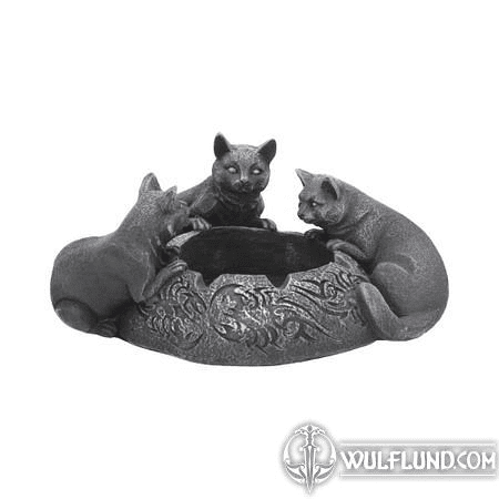 FELINE TRIO ASHTRAY