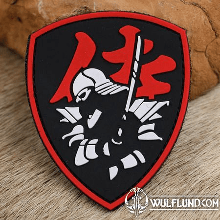 SAMURAI SHIELD, RED PATCH 3D PVC