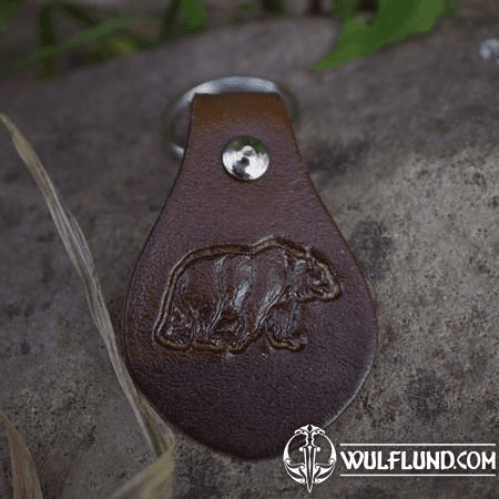 BEAR, KEYCHAIN, LEATHER