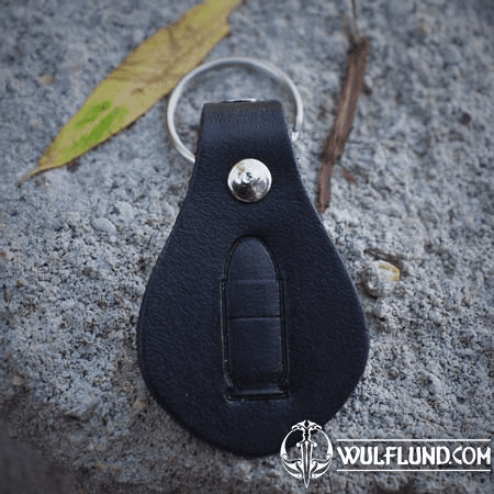 BULLET, KEYRING, LEATHER