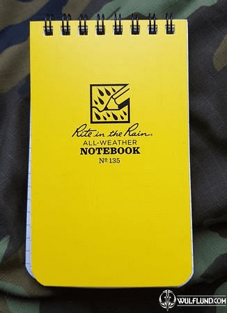 RITE IN THE RAIN - ALL-WEATHER NOTEBOOK - 3X5'' - 935 - YELLOW