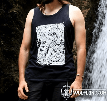 RAGNARÖK, VIKING TANK TOP, BLACK AND WHITE