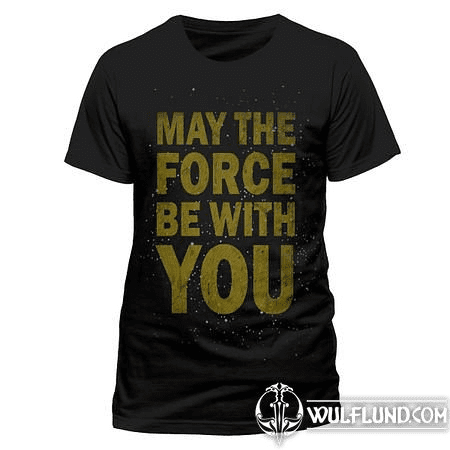 STAR WARS - MAY THE FORCE BE WITH YOU, UNISEX T-SHIRT - BLACK