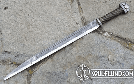 LONG ANGLO-SAXON SCRAMASAX, FORGED REPLICA