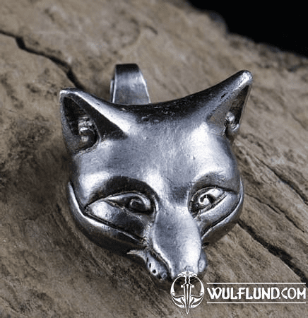 CELTIC FOX, HEAD, PENDANT, TIN