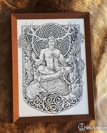 CERNUNNOS, FRAMED PICTURE