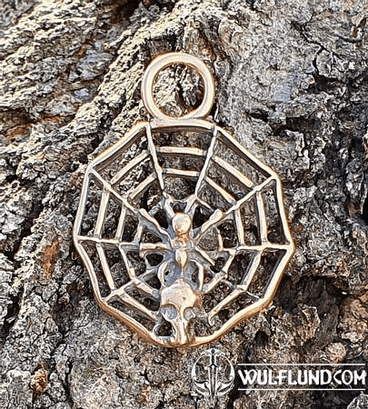 SPIDER IN A NET, PENDANT, BRONZE
