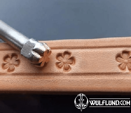 SMALL BLOSSOM, LEATHER STAMP
