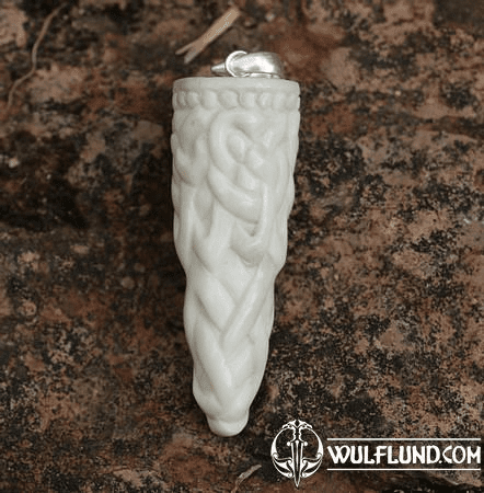 VIKING KNOT, CARVED BONE PENDANT