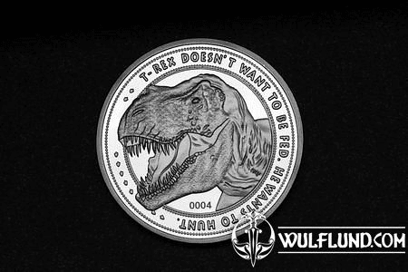 JURASSIC PARK COLLECTABLE COIN 25TH ANNIVERSARY T-REX