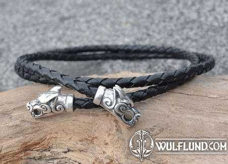 FENRIR, LEATHER BOLO, STERLING SILVER, 18 G.