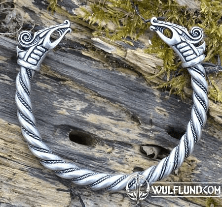 DREKI, VIKING BRACELET, SILVER PLATED TIN ALLOY