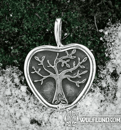 APPLE TREE, PENDANT, SILVER