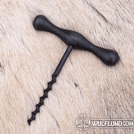 HAND FORGED CORKSCREW, METAL