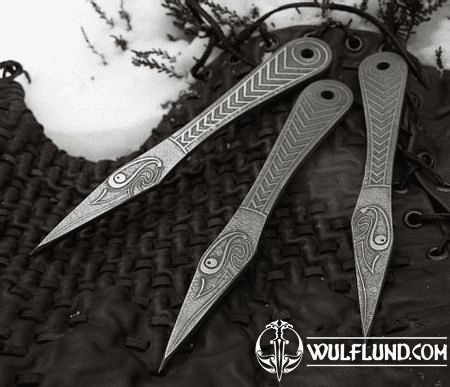 MUNINN ETCHED THROWING KNIFE - SET OF 3