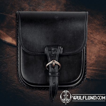 GENTLEMAN, LEATHER BELT BAG - BLACK