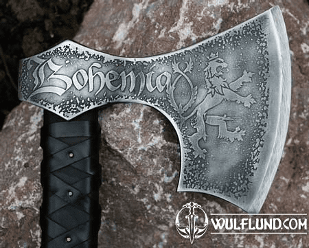 BOHEMIA - AXE, ETCHED WITH LEATHER