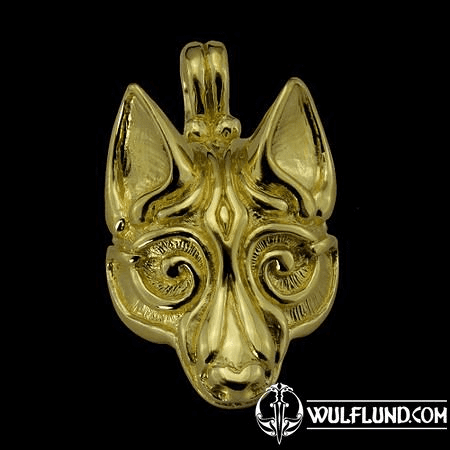 FENRIR, NORSE WOLF PENDANT, 14K GOLD