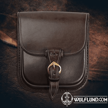 GENTLEMAN, LEATHER BELT BAG - BROWN