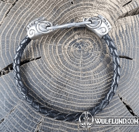 COLLACH - CELTIC BOAR, LEATHER BANGLE