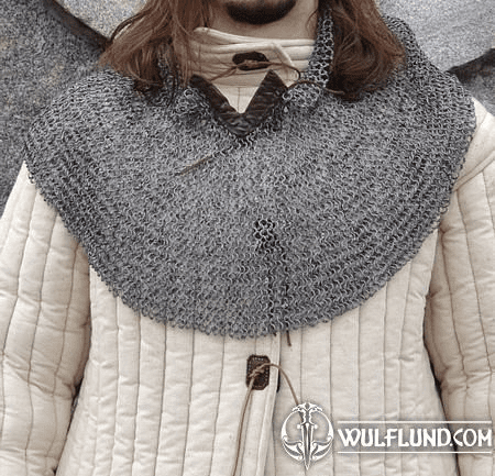 RIVETED CHAINMAIL COLLAR, 8 MM