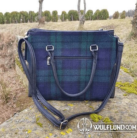 EMILY SHOULDER BAG, TARTAN, WOOL