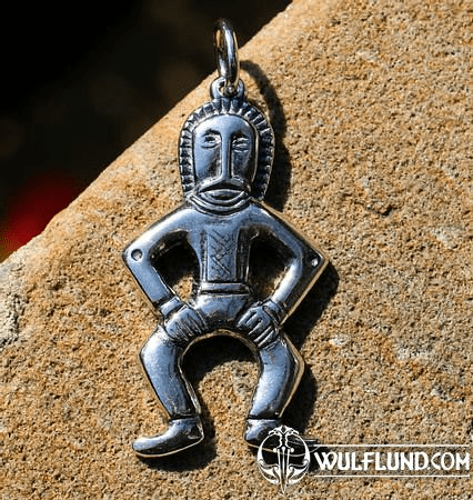 MAN FROM MARTYNIVKA TREASURE, SILVER PENDANT