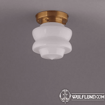 FLOWER BUD CEILING LAMP, BRASS STRAIGHT FIXTURE