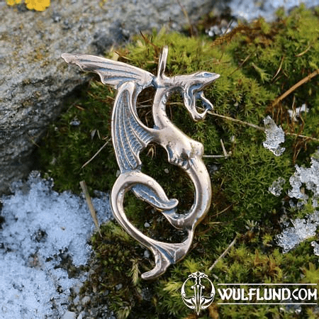 WATER DRAGON, BRONZE PENDANT
