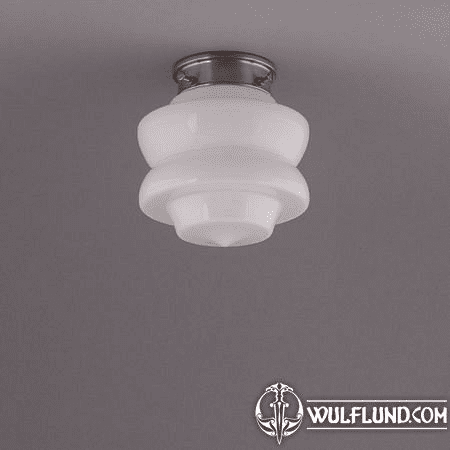 FLOWER BUD CEILING LAMP, MATTE NICKLE ROUND FIXTURE