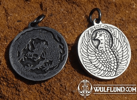 PHOENIX AND DRAGON, PENDANT