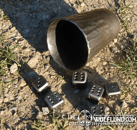 6 FORGED DICE AND DICE CUP