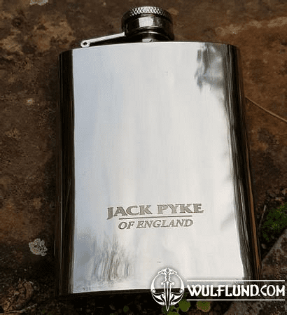 HIP FLASK, STAINLESS STEEL, 4 OZ/118 ML