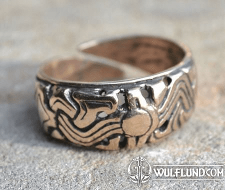 VIKING RING FROM NORWAY, BRONZE