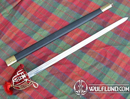 SCOTTISH BASKET HILT BROADSWORD, COLLECTIBLE REPLICA SWORD